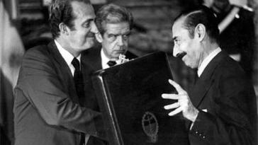 Spaniens König Juan Carlos (links) mit Diktator Videla bei seinem Besuch in Argentinien 1978