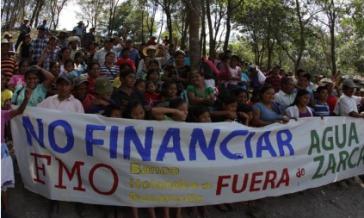 Trotz der gravierenden Menschenrechtslage finanziert die holländische Entwicklungsbank FMO weiterhin das Projekt Agua Zarca