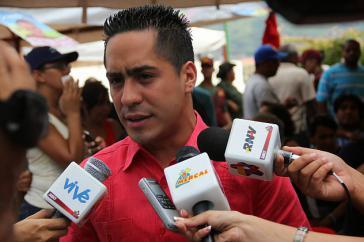 Der PSUV-Abgeordnete Robert Serra