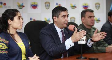 Innen-und Justizminister Miguel Rodríguez Torres am Dienstag bei der Pressekonferenz