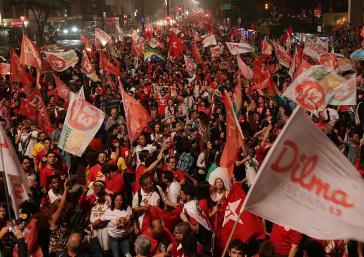 Jubel in Brasília über die Wiederwahl von Dilma Rousseff