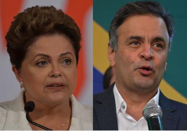 Dilma Rousseff und Aécio Neves