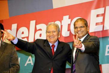 Der neue Präsident von El Salvador, Salvador Sánchez Cerén, und sein Vize Oscar Ortiz