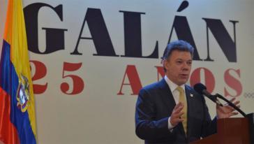 Kolumbiens Präsident Santos beim Forum zu Drogenpolitik in Bogotá