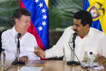 Spannungen überwunden? – Juan Manuel Santos und Nicolás Maduro