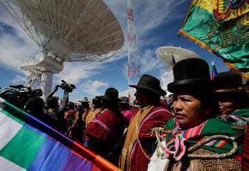 """Dank dem Satelliten sind mehr als Tausend """"Telezentren"""" ans Netz angeschlossen"""