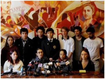 Sprechergruppe der nationalen Studentenorganisation Confech