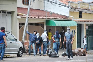 Protestierende in Táchira