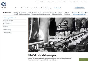 Homepage von Volkswagen do Brasil