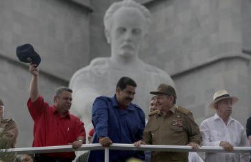 Präsidenten von Venezuela und Kuba, Nicolás Maduro und Raúl Castro, in Havanna