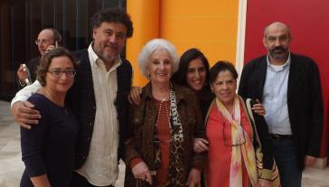 """""""24 Marzo Onlus"""" aus Italien und die Organisation """"Großmütter der Plaza de Mayo"""" aus Argentinien arbeiteten zusammen, um Malatto vor Gericht zu bringen. In der Bildmitte die Präsidentin der """"Großmütter"""", Estela Carlotto, links von ihr Jorge Ithurburu"""