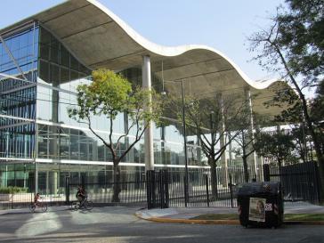 Der Eingang zum wohl modernsten Regierungssitz Lateinamerikas