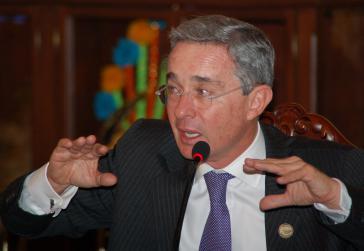 Senator und Ex-Präsident Álvaro Uribe