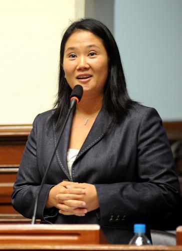 Keiko Fujimori, Tochter des Ex-Präsidenten Alberto Fujimori, liegt in den Umfragen mit 30 Prozent derzeit weit vorne