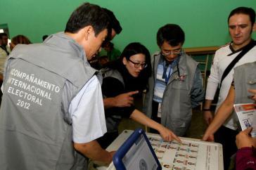Internationale Wahlbegleiter bei der Präsidentschaftswahl 2012