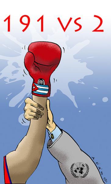Die Sicht des kubanischen Karikaturisten Adán Iglesias Toledo