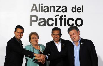 Die Präsidenten auf dem 10. Gipfeltreffen in Paracas, Peru