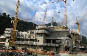 Die Bauarbeiten am Reaktor Angra 3 wurden bereits Ende 2014 gestoppt