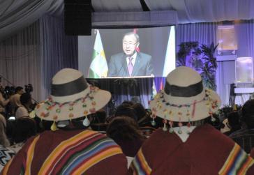 UN-Generalsekretär Ban Ki-moon beim Völkergipfel