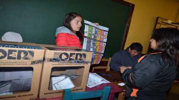 Mehr als sechs Millionen Bolivianer waren am Sonntag zur Wahl aufgerufen