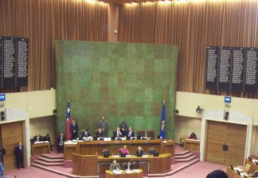 Das nationale Parlament Chiles, die Abgeordnetenkammer des Kongresses in Valparaíso