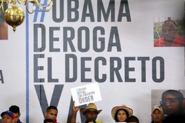 Aufhebung des US-Präsidaldekrets gegen Venezuela