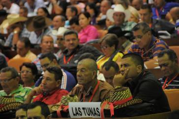 Delegierte der Kleinbauernvereinigung ANAP beim Kongress