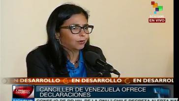 Außenministerin Delcy Rodríguez gab die Maßnahmen am Dienstag bekannt