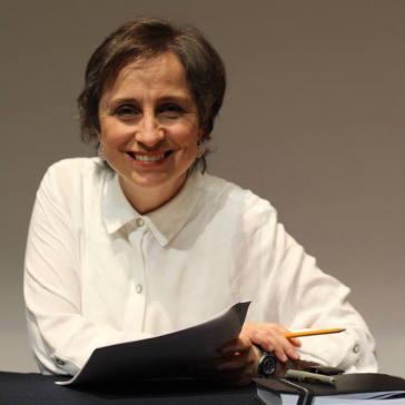 Die Radiojournalistin Carmen Aristegui