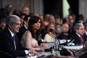 Die Präsidentin Argentiniens, Cristina Fernández de Kirchner, am Sonntag