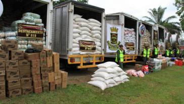 Jährlich werden Zehntausende Tonnen Lebensmittel nach Kolumbien geschmuggelt