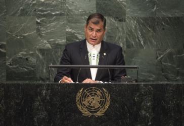 """""""Armut ist schlimmste Form der Gewalt"""": Präsident von Ecuador, Rafael Correa"""
