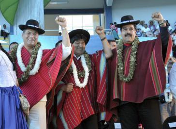 Rafael Correa, Evo Morales und Nicolás Maduro waren ebenfalls eingeladen