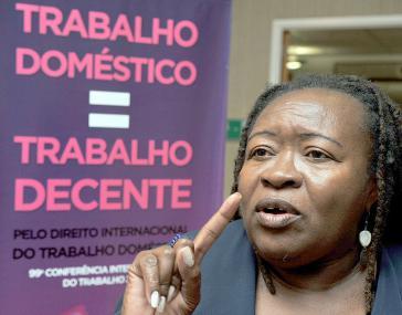 Creuza Maria Oliveira, die Präsidentin der Nationalen Hausangestelltengewerkschaft (Fenatrad)