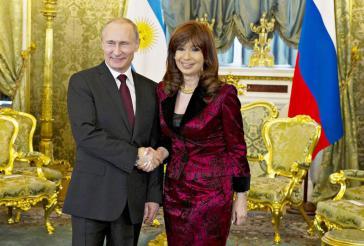 Argentiniens Präsidentin Cristina Fernández und Russlands Präsident Wladimir Putin am vergangenen Freitag in Moskau