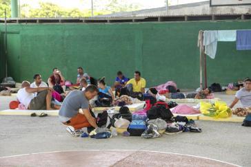 Kubanische Migranten in einer Notunterkunft in Cosza Rica