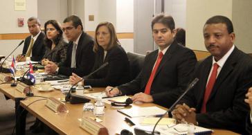 Die kubanische Delegation bei der zweiten Gesprächsrunde