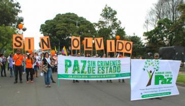 Nationaler Tag der Opfer: Friedensmarsch am 9.  April 2015, Bogotá