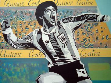 Graffito von Maradona – hat er Chancen in einer reformierten Fifa?