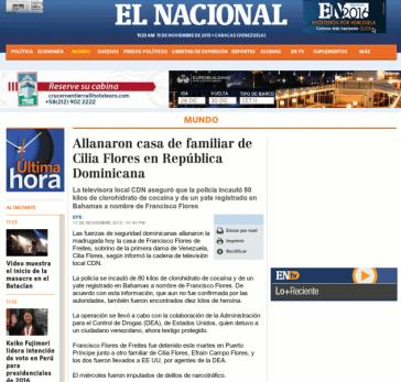 Auch die venezolanische Tageszeitung El Nacional übernahm die EFE-Meldung