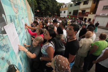 Venezuela verzeichnet normalerweise eine sehr hohe Wahlbeteiligung, hier bei der Präsidentschaftswahl 2013