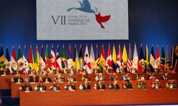 Bei der Eröffnung des 7. Amerikagipfels am 10. April 2015 in Panama