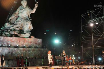 Die Statue wurde am 15. Juli eingeweiht
