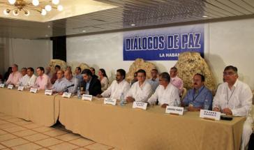 Die Delegationen der Revolutionären Streitkräfte Koumbiens (Farc) und der Regierung verhandeln seit November 2012 in Kubas Hauptstadt