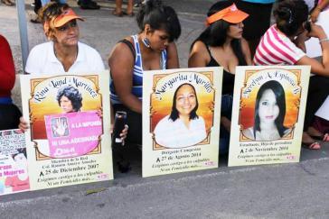 Protesteaktion gegen Morde an Frauen in Honduras