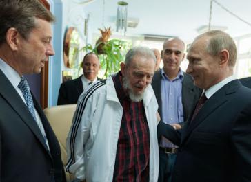 Fidel Castro und Russlands Präsident Putin im Juli 2014 in Havanna