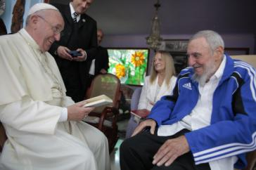 Nach der Messe in Havanna traf Franziskus Revolutionsführer Fidel Castro und seiner Frau Dalia