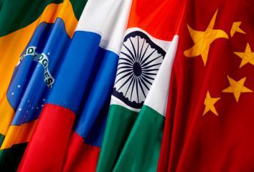 Flaggen der BRICS-Staaten