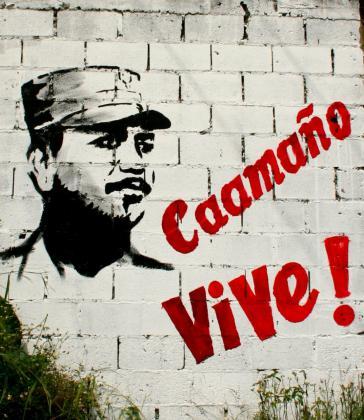 Wandbild in Santo Domingo: Rebellenführer Oberst Francisco Caamaño (1932 – 1973)