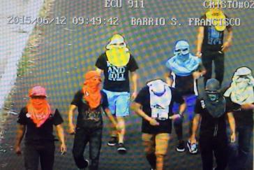 Teilnehmer an Oppositionsprotesten in San Cristóbal, Galápagos
